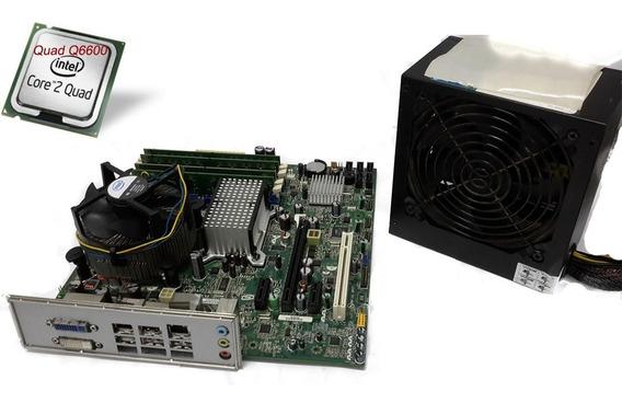 Placa Mãe Intel 6gb+core Dual Quad Q6600+6gb Ram+fonte 500w