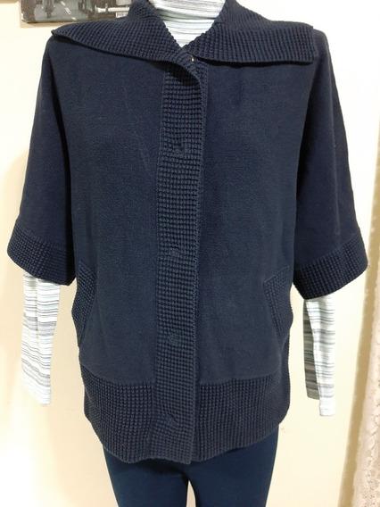 Chaleco/sweater Tejido Importado Azul Talle L