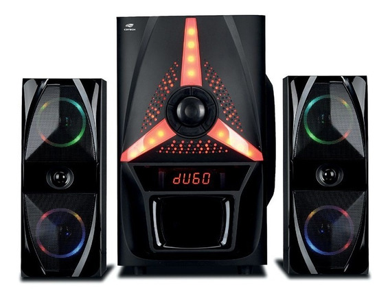 Caixa De Som C3tech 2.1 Sp-b500bk Preta