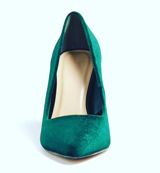 Forever 21 Stilettos Verde Gamuzado
