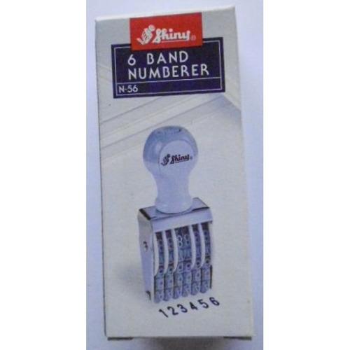 Numerador 6 Bandas 3mm. Shiny No.56