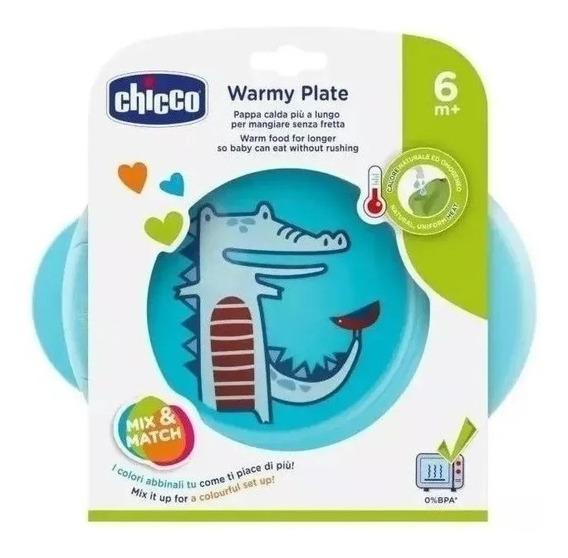 Plato Térmico Bebe Chicco Warmy Plate 6+ By Creciendo