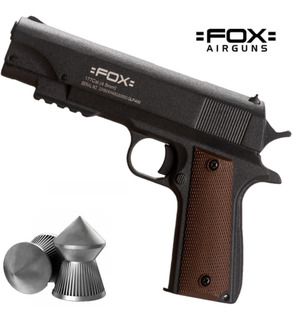Pistola Fox Piston Lp400 Browning Black Replica + Balines