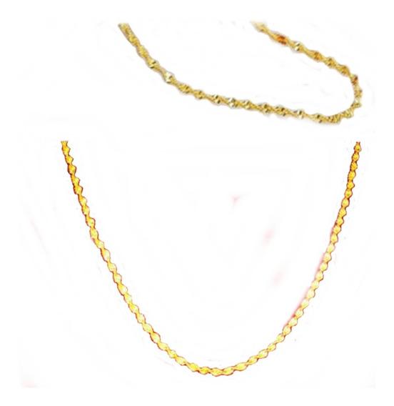 Y) Corrente Colar Folheado A Ouro 18k Unissex- Promoção