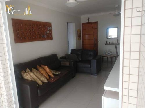Apartamento Com 2 Dormitórios À Venda, 84 M² Por R$ 479.000,00 - Boqueirão - Praia Grande/sp - Ap4171