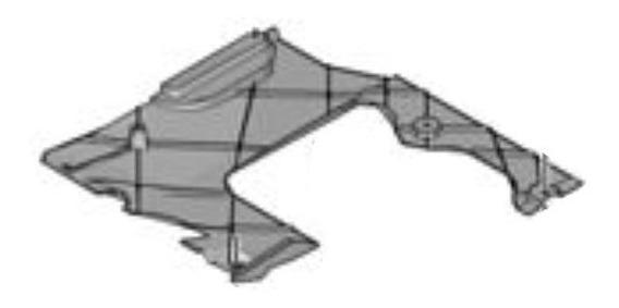 Deflector Panel Inferior Der Bajo Carrocería Peugeot 308 1.6