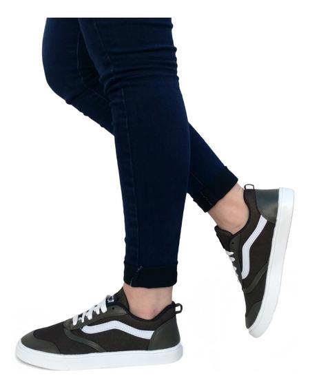 Zapatillas Mujer Panchas Urbanas Náuticas Lona - Art. Lola