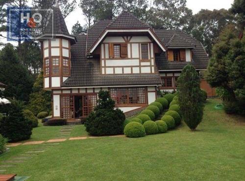 Casa Com 6 Dormitórios À Venda, 667 M² Em Campos Do Jordão, No  Alto Do Capivari. - Ca0309