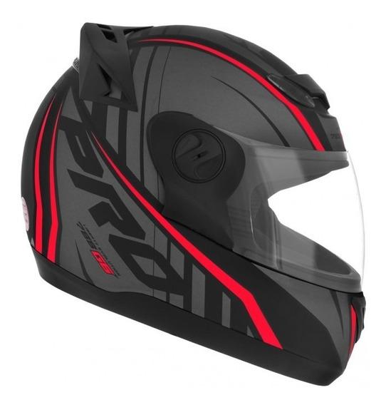 Capacete Evolution G6 788 Pro Neon Preto/vermelho 58