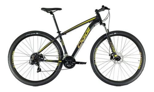 Imagem 1 de 6 de Bicicleta Oggi Hacker Sport Aro 24 - Preto E Amarelo
