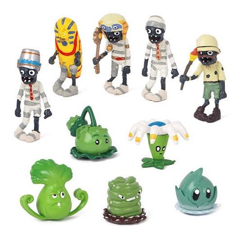 Plantas Vs Zombies Bumerán Colección X 10 Figuras En Bolsa