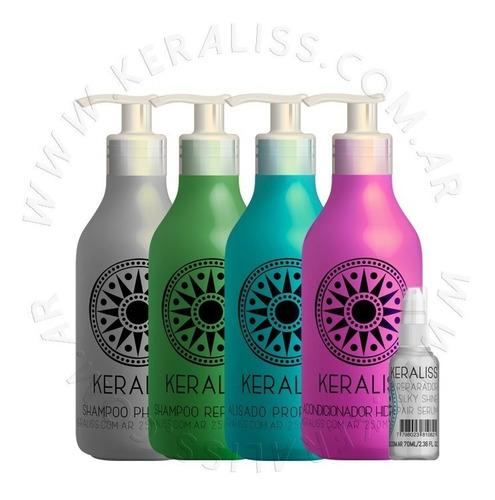 Keraliss Kit 4.2 Alisado, Neutro, Reparador, Enjuague, Serum