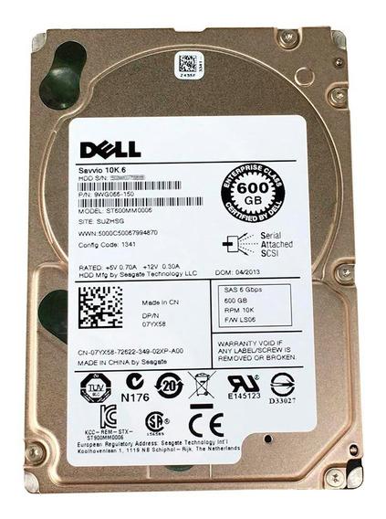 Hd Servidor Dell R815 600gb 10k Sas St600mm0006 Semi Novo