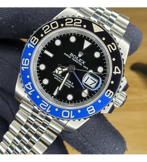 Relógio Rolex Gmt Master 2 Puls Jubileu Aro Cêramica