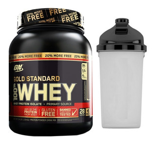 Whey Gold Standard 907g + 20% ( 1090g ) On + Coqueteleira