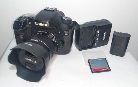 Câmera Canon 7d + Lente