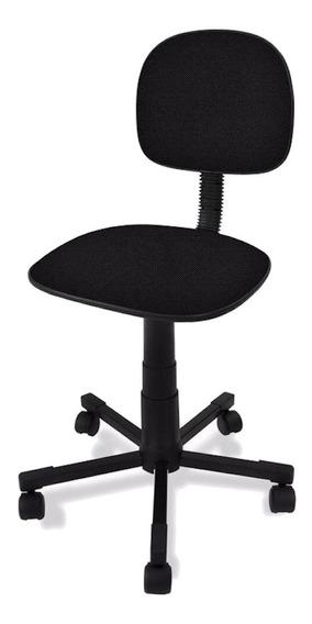 Cadeira de escritório Ecoflex Secretária Giratoria preta