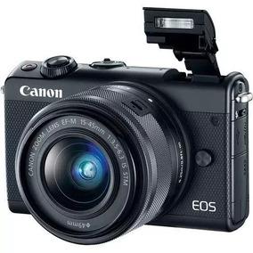 Câmera Canon P/ Estudante M100 C/ Ef-m 15-45mm Is Stm