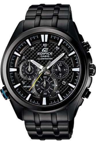 Reloj Efr 537bk Hombre Acero Casio 1av Negro AR4c35Lqj