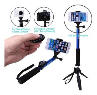 Monopod Baston Selfie Stick Con Trípode Y Control Bluetooth
