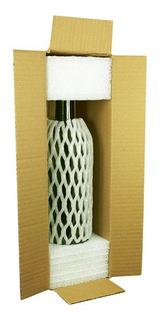 Solução Para Envio De Vinhos E Bebidas - 10 Kits Com Caixa E Proteção Para 1 Garrafa - Casa Do Envio