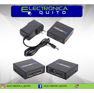 Splitter Hdmi De 2 Puertos 3d Full Hd 1080p