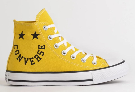 Tênis Converse All Star Bota Amarelo Ct13180003 Original