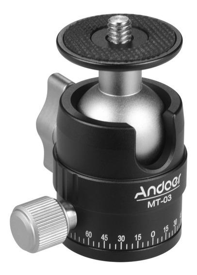 Andoer Mt-03 Mini Bola Cabeça Dslr Ildc Câmera Tripé Monopd