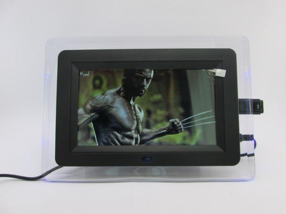 Porta Retrato Digital 7 Polegadas Controle Cores Variadas Rj