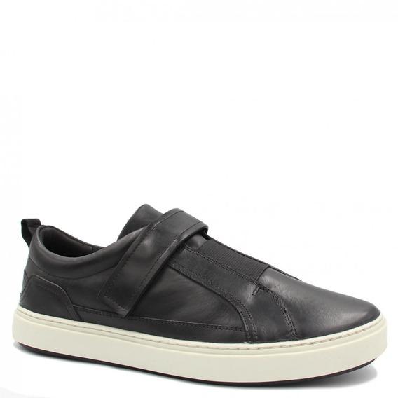 Sapatênis Zariff Shoes Em Couro Elastano Preto Zem-62