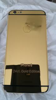 Carçaca iPhone 6 Plus Banhada Ouro 24k Dourada Em Estoque