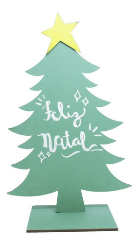Árvore De Natal Lousa Com Giz