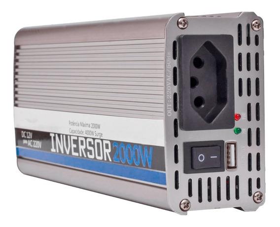 Inversor Transformador Conversor 2000w Veicular 12v 220 550a