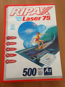 Papel A3 Ripax Laser 75 Com 500 Folhas