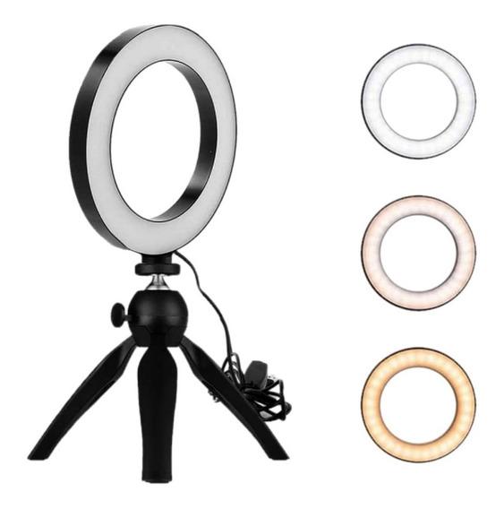 Ring Light Iluminador 6 Polegadas Led + Tripé