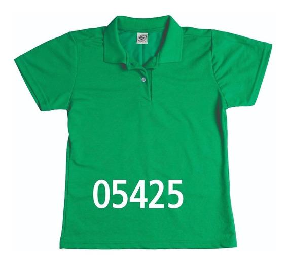Camisa Pólo Feminina Manga Curta Sem Bolso - Ref. 8378