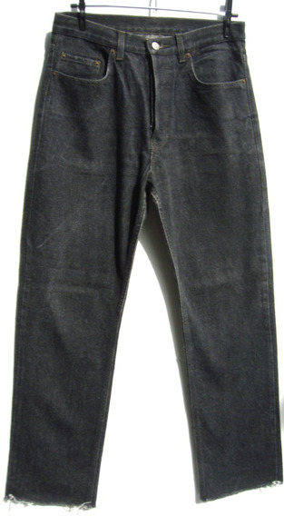 Ufo Button Pantalon Hombre T32 Jeans Negro (ana.mar)