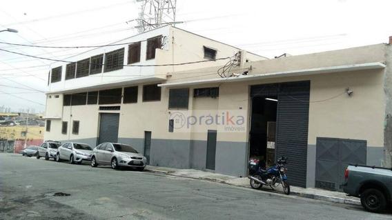 Galpão Para Alugar, 689 M² Por R$ 7.000/mês - Vila Prudente - São Paulo/sp - Ga0068