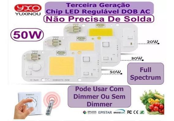 Chip Led 50w Branco Quente Full Spectrum 220v Aquário Planta