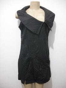 Vestido Preto Tafetá Curto Tam M Usado Bom Estado