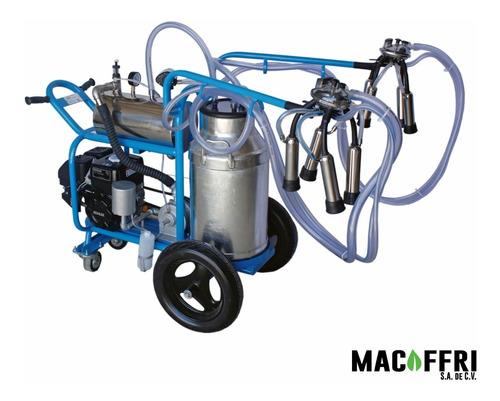 Imagen 1 de 5 de Ordeñadora Para Dos Vacas Con Motor A Gasolina 6.5 Hp