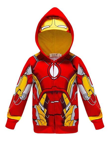 Casaco Vingadores Moletom Infantil Homem Aranha Thor Capitão América Homem De Ferro Capuz Avengers