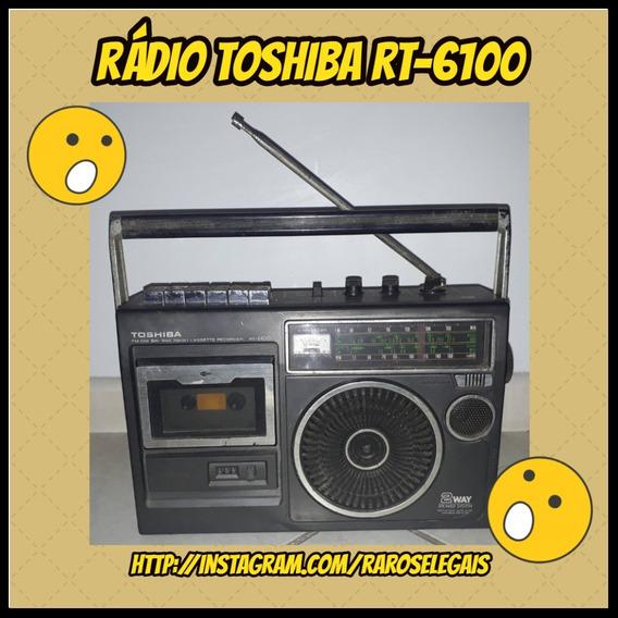 Raro Rádio Toshiba Rt6100 Com Tape Deck, Precisa De Atenção