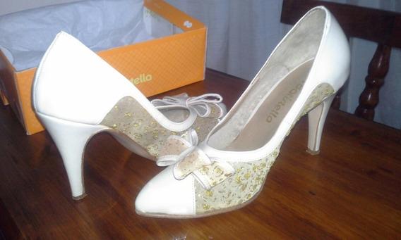 Zapatos Impecables Batistella Color Marfil Super Delicado