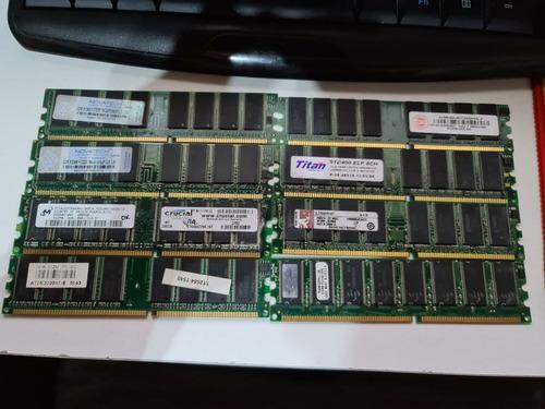 Lote De 8 Memorias Ddr 512 Mb Pc3200