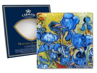 Plato En Cristal Cuadrado 13 Cm Los Lirios Van Gogh