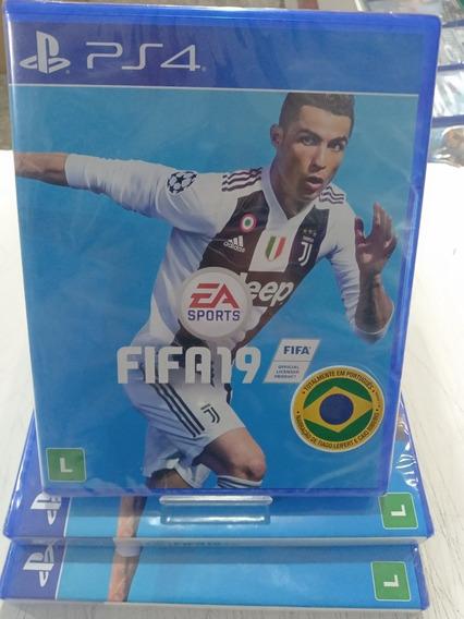 Jogo Ps4 Fifa 19 Playstation 4 Original Portugues Lacrado