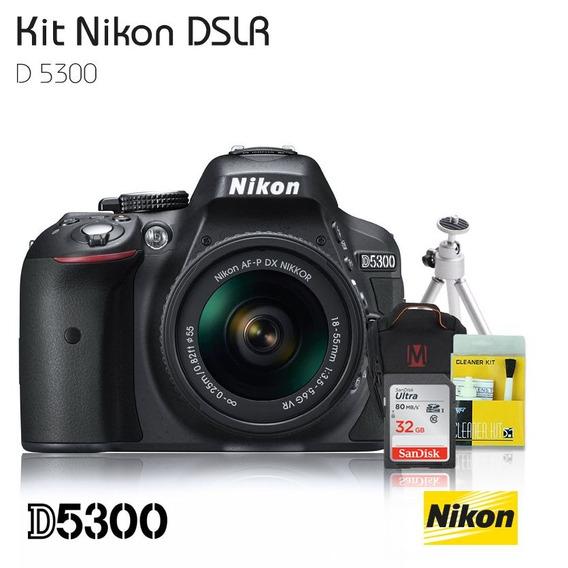 Nikon D5300 Lente 18-55mm+bolsa+cartão 32gb+kit Mastertronic