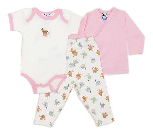 Ropa Bebe Conjunto Set 3 Piezas Pañalero Pants Playera 30325