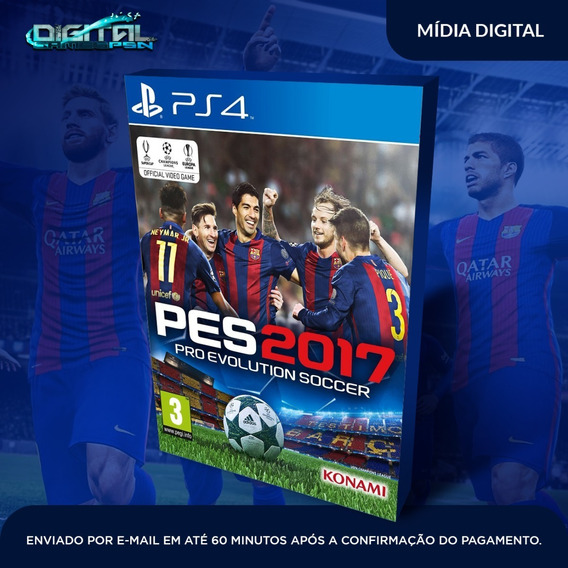 Pro Evolution Soccer 2017 Ps4 Psn Jogo Digital Envio Rapido